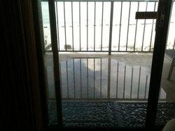 balcony flooded!