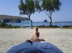 Relaxing in front of the Hotel... Great views everywhere
