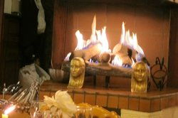 the fireplace that entrapped us