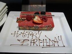 My stunning Birthday Cake waiting in my room!