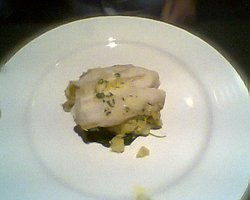 Grilled Hake on a Spinach & Mash Bed