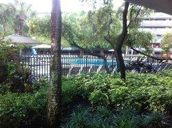 Room facing pool