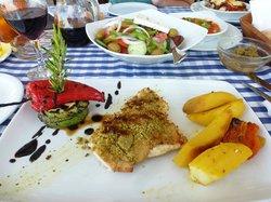 Chicken with parmezan pesto crust