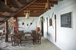 Crafted from the same rich rosewood as the villas, the restaurant is nestled on its own private