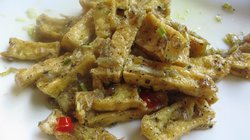 Tofu sauted with Lemongrass, Garlic, Chili