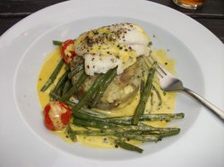 Fillet of Plaice with saffron cream sauce