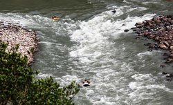 View of Rafting from road side from the top