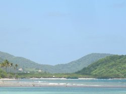 The nearest beach and reef