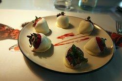 Fresas con chocolate blanco!