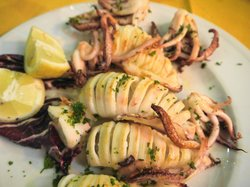 4 grilled calamaris are one dish