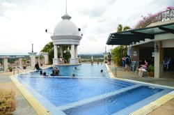 Pool located at roof level