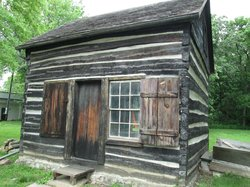 Mayhew Cabin with John Brown's Cave