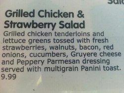 Strawberry salad description.