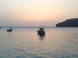 Takis tavern sea view on sunset