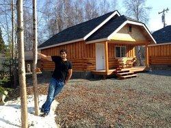 The beautiful log cabin