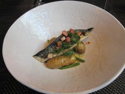Excellent mackerel with browned butter