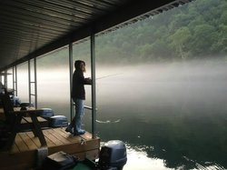 Fishing from dock...early morning