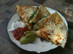 Grilled Shrimp & Cheese Dilla