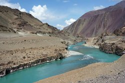 Confluence of the Indus and Zanskar Rivers