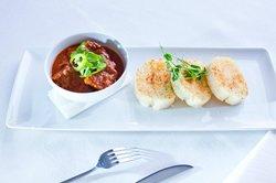 Veal Knuckle Stew with Bread Dumpling or Egg Dumplings