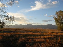 View to Sangre de Cristo from the ranch