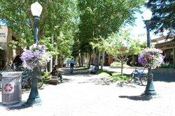Aspen streets a full of flowers