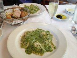 Pesto and Sausage Ravioli Special
