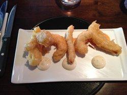 Beautiful tempura prawn starter at The Brewer's house, Donaghmore