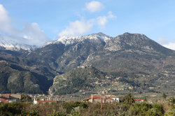 view of Mt Taygetus
