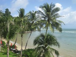Resort's private beach - A view from the Deluxe room