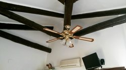 Cute cieling and fan of Room 5