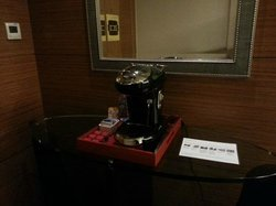 Coffee machine provided in suite