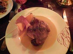 plat du jour: duck with melon sauce