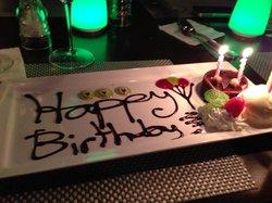 birthday desert surprise