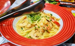 Cajun Shrimp and Chicken Pasta