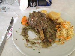Lamb in mint sauce - yummy