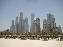 View from , with Le Royal Meridien Beach Resport & Spa back to Grosvenor House, partial obsequir