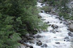 River following canyon drive