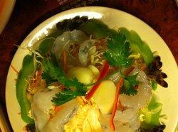 sashimi von Garnelen