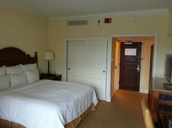 Room looking in from door to balcony