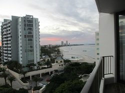 View from the balcony on level 9 (2 bedroom apartment)