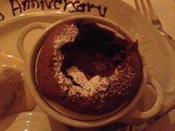warm chocolate souffle