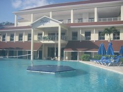 Pool view of the resort