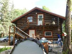 Outside the main cabin