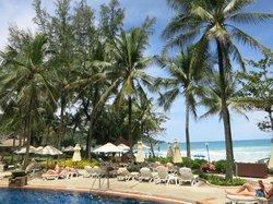 Pool beside beach