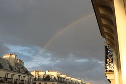 View of Rainbow from Balcony