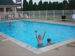 Having Fun in the Hotel Pool