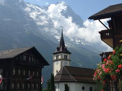 First floor large balcony view - North wall Eiger