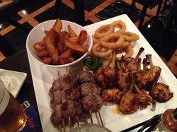 food combo in lobby sports bar