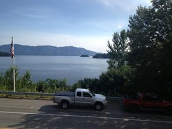 View of the lake from Ice House Pizzeria's deck